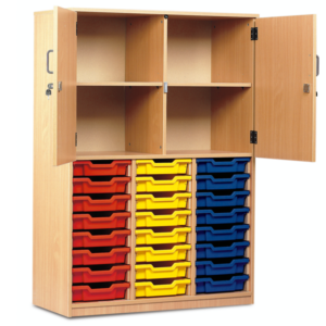 24 Tray Cupboard – Half Doors