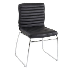 Lazio Visitor Chair – Black Leather Look