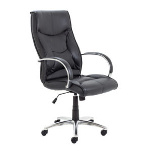 Whist Chair – Black Leather
