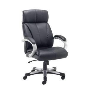 Cronos Heavy Duty Executive Chair – Black Leather