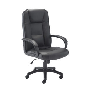 Keno Leather Chair – Black