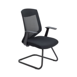 Vogue Medium Back Cantilever Chair – Black