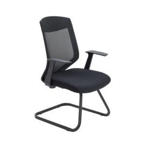 Vogue Medium Back Cantilever Chair – Black
