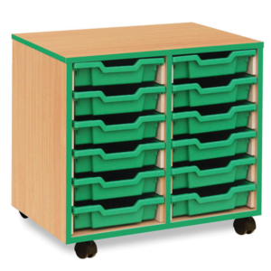 Coloured Edge 12 Tray Storage Unit