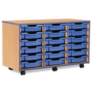 Coloured Edge 18 Tray Storage Unit