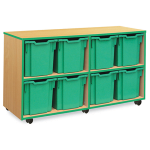Coloured Edge 8 Tray Jumbo Storage Unit