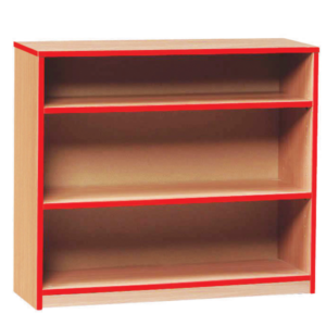 Coloured Edge Low Bookcase