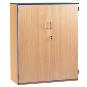 Coloured Edge Medium Storage Cupboard
