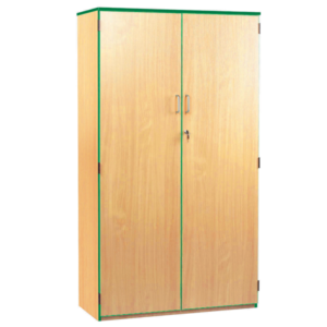 Coloured Edge High Storage Cupboard