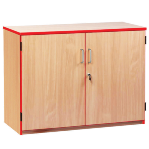 Coloured Edge Low Storage Cupboard