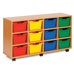 Cubby Storage 12 Tray Unit