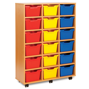 Cubby Storage 18 Tray Unit