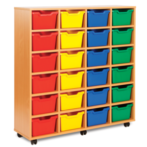 Cubby Storage 24 Tray Unit