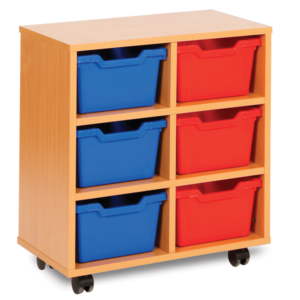 Cubby Storage 6 Tray Unit