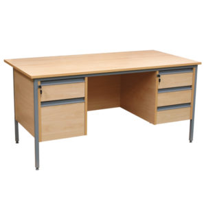 Double Teachers Pedestal Desk