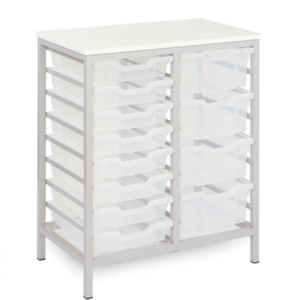 Static Mobile 16 Tray Storage Unit