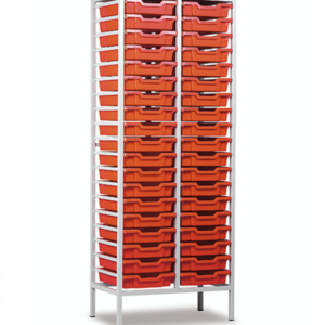 Static Mobile 38 Tray Storage Unit