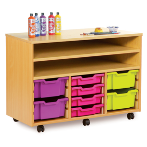 Triple Combination Shelf Unit