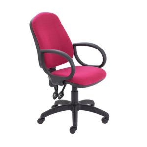 Calypso II High Back Chair with Fixed Arms