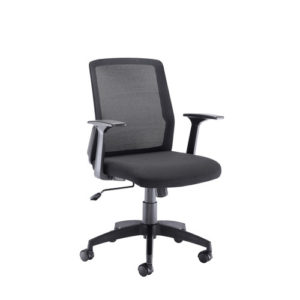 Denali Mid Back Chair – Black Mesh