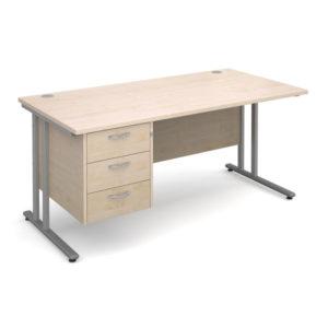 Cantilever Desk & Pedestal