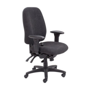 Vista High Back Chair – Charcoal