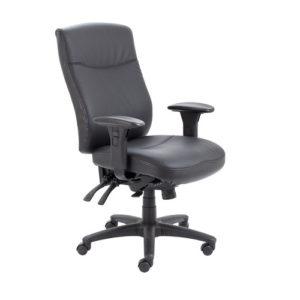 Marathon Leather Chair – Black