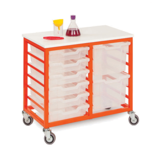 Mobile Metal 12 Tray Storage Unit