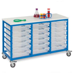 Mobile Metal 18 Tray Storage Unit