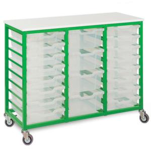 Mobile Metal 24 Tray Storage Unit