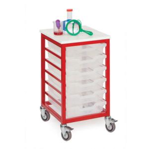 Mobile Metal 6 Tray Storage Unit