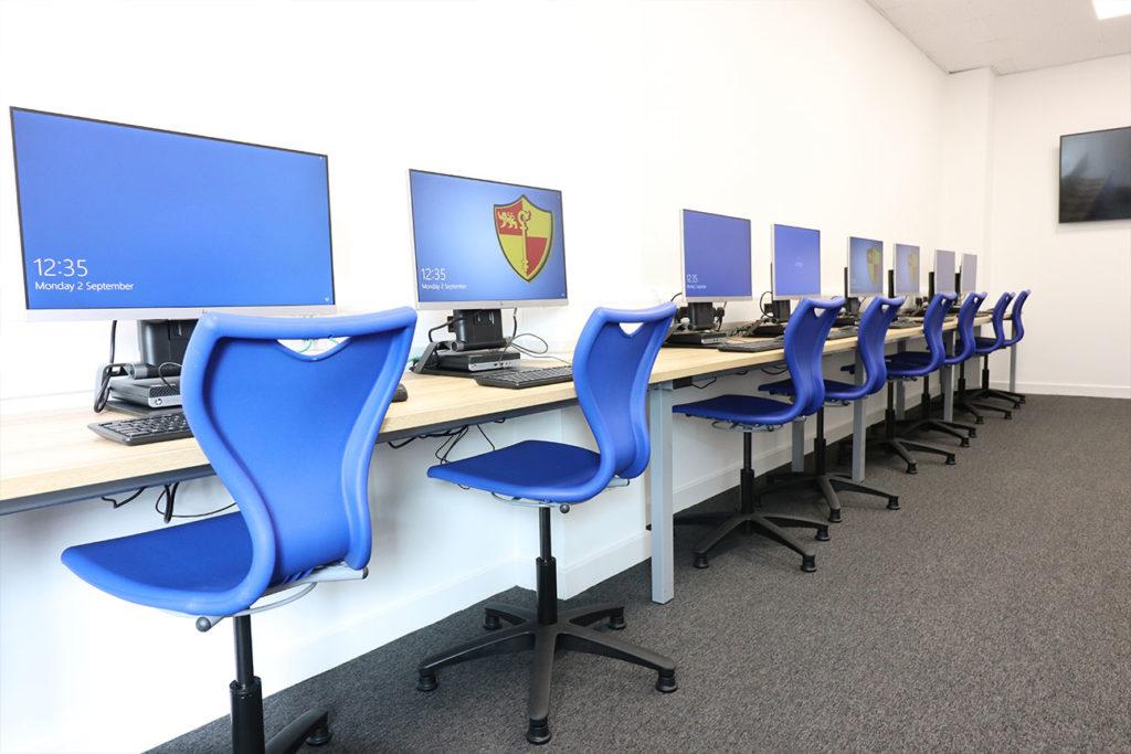 IT room at a local school