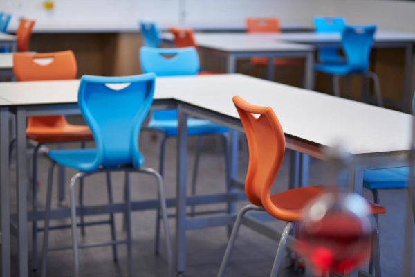 school chairs in classroom