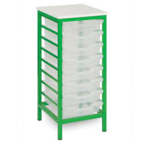 Static Mobile 8 Tray Storage Unit