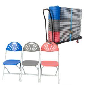 40 Fan Back Chairs & Trolley