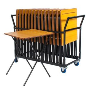 Premium 24 Exam Desks & Trolley