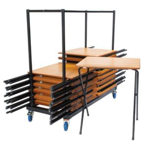 Premium 40 Exam Desks & Trolley