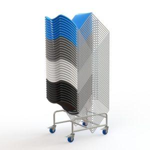 Zlite High Density Stacking Chair Trolley