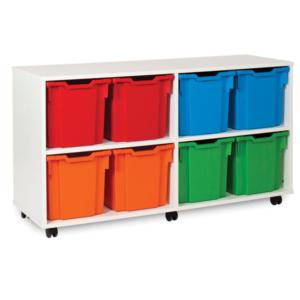 White storage 8 tray unit