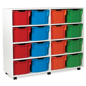 White Storage Extra Deep Tray Unit