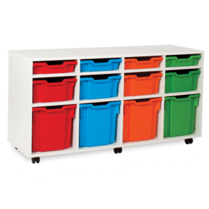 White Storage Variety 12 Tray Unit