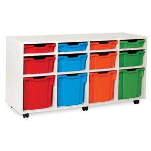 White Storage Variety 12 Tray Unit