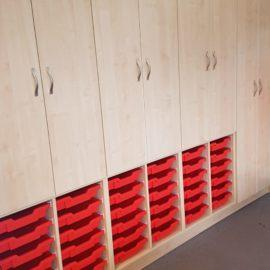 Guilden Sutton primary bespoke storage cupboards
